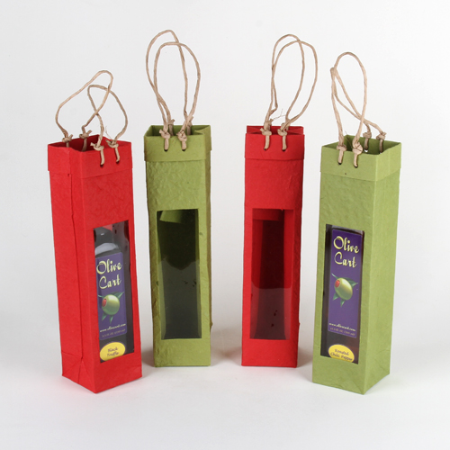 Tall single window gift bag