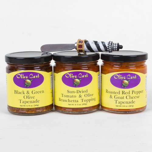 Tapenade 3-pack with Spreader