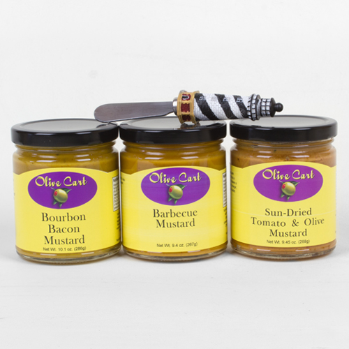 Gourmet Mustards 3-pack with spreader