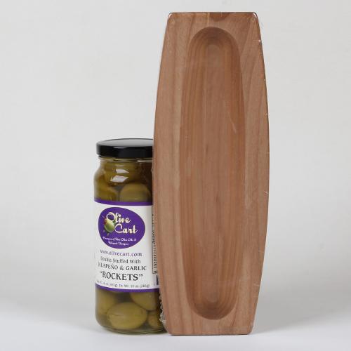 Olive Boat with Olives Gift Set