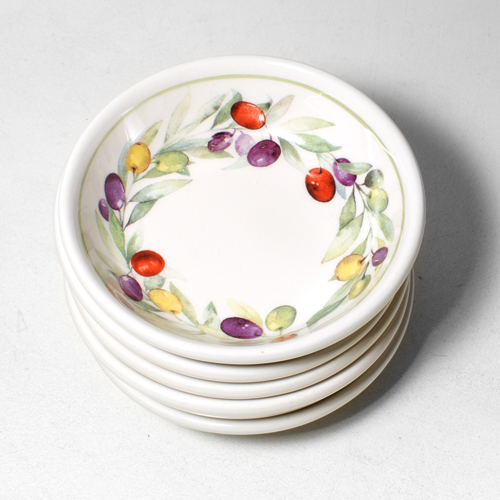 Dipping dish - olive wreath circular