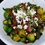 Sautéed Brussel Sprouts with Fig Glaze