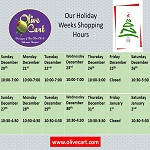 Our Holiday Store Hours