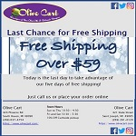 Final Day of Free Shipping Over $59
