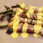 Keto Bacon Wrapped Asparagus with Mustard Sauce