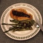 Savory Blueberry Chicken and Asparagus