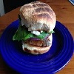 Grilled Sweet Heat Tuna Sandwich with garlic mayo